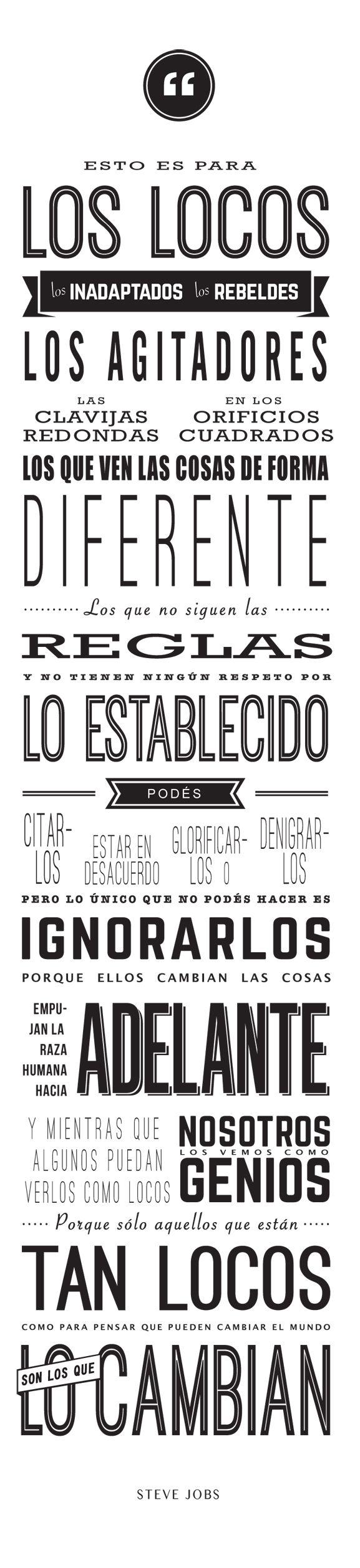 Citas y frases inspiradoras presentadas de forma atractiva y en castellano.