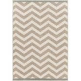 "Found it at Wayfair - Alfresco Ivory/Taupe Chevron Area Rug 7'6"" x 10'9"" $223"