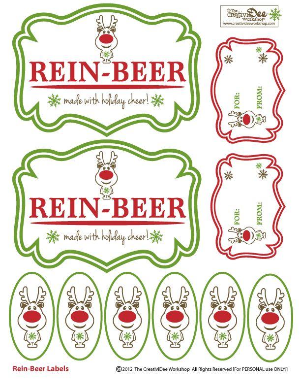 Rein-Beer Free Printable