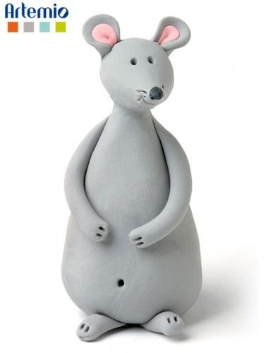 souris facile en pâte polymère mouse in polymer clay sculpey or fimo