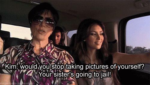 "When Kris was all like, ""Put away your phone."" | 17 Times Kim Kardashian Made Us Scream ""Can She Live?"""