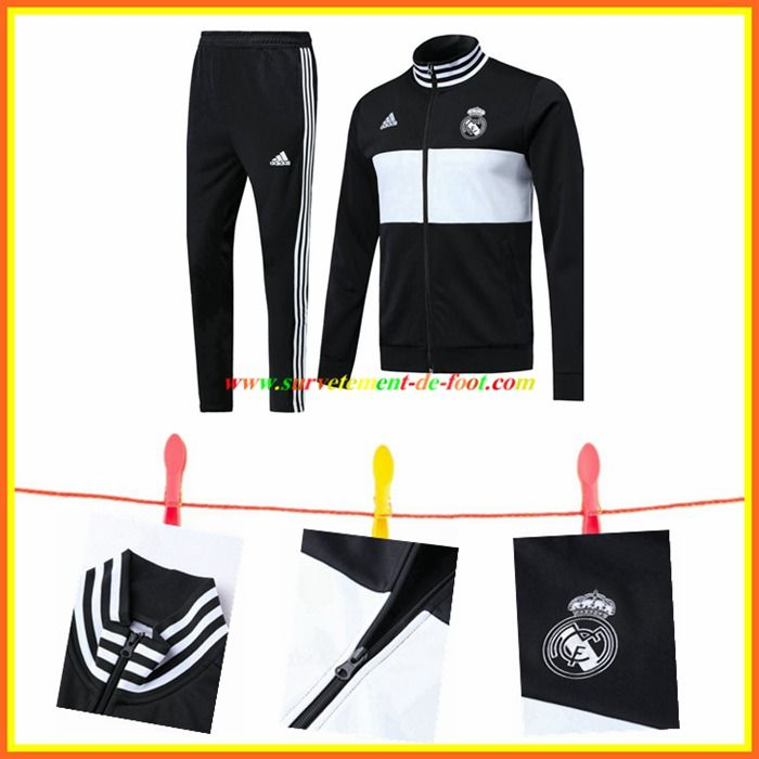 Nouveau Ensemble Survetement de Foot Veste Real Madrid