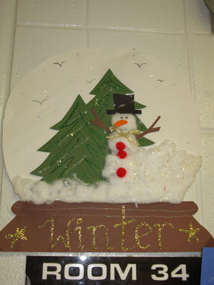 paper snow globe