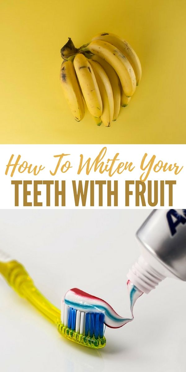 How To Whiten Your Teeth With Fruit - The inside of a banana peel actually contains lots of ingredients that can help give you the pearly white smile you dream of. Minerals in the banana peel include magnesium, manganese, and potassium absorb into your teeth quickly, and whiten them without damaging them.