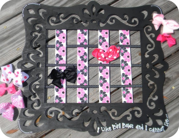I like Big Bows Hair Bow Hanger by TheDetailsbyKMW on Etsy, $30.00