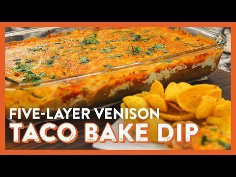 Melty Venison Taco Bake Chip Dip | Legendary Whitetails