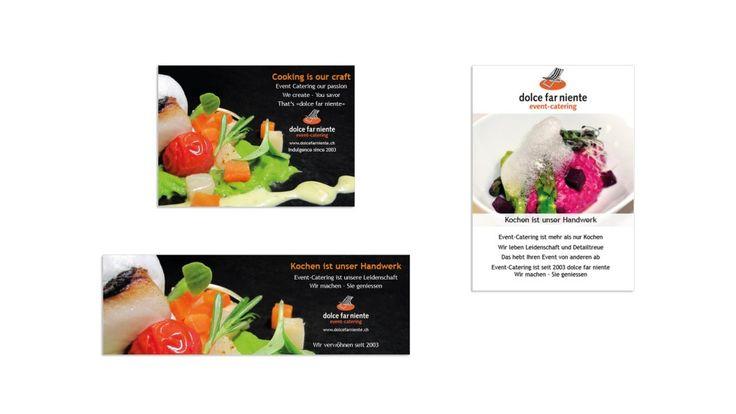 Inserate für dolce far niente event-catering Übrigens egal ob gedruckt oder digital - beides ist machbar :) --- #inserat #anzeige #print #printmedia #grafikloft #corporate #brand #branddesign #grafik #graphic #ad #advertising