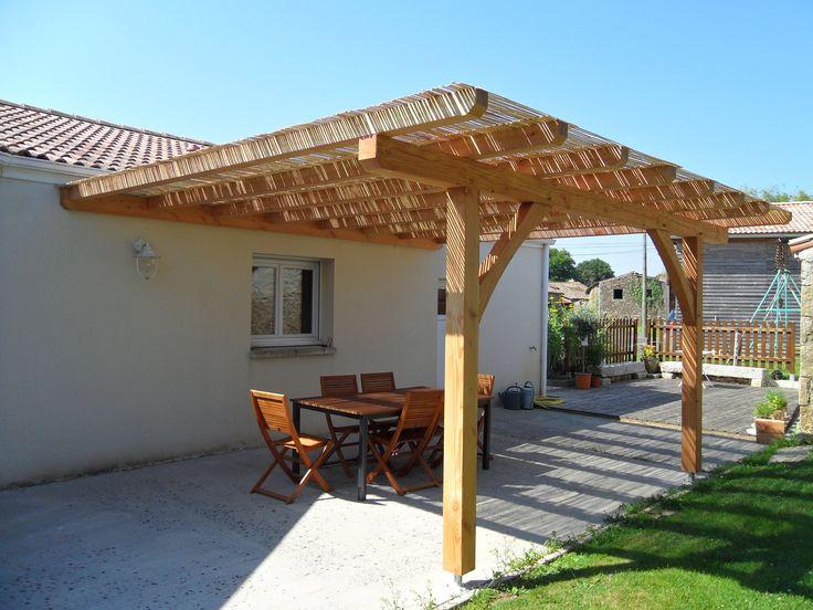 Pergolas bois dimension surface 23 m dimension 4m54 5m10 tarif 2667 ttc - Fermer une pergola en bois ...