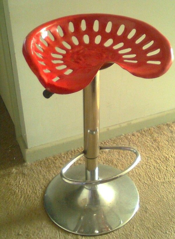 recycled tractor seat bar stool - Tractor Seat Stool