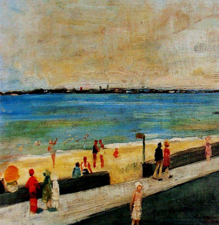 Esther Paterson (1892-1971) Australia:  St Kilda Beach