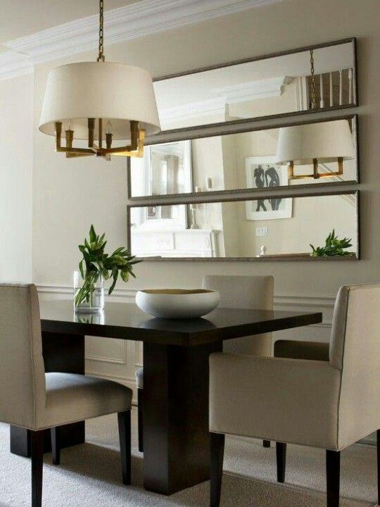 Big Blank Wall Design Solutions Horizontal MirrorsContemporary Dining RoomsSmall