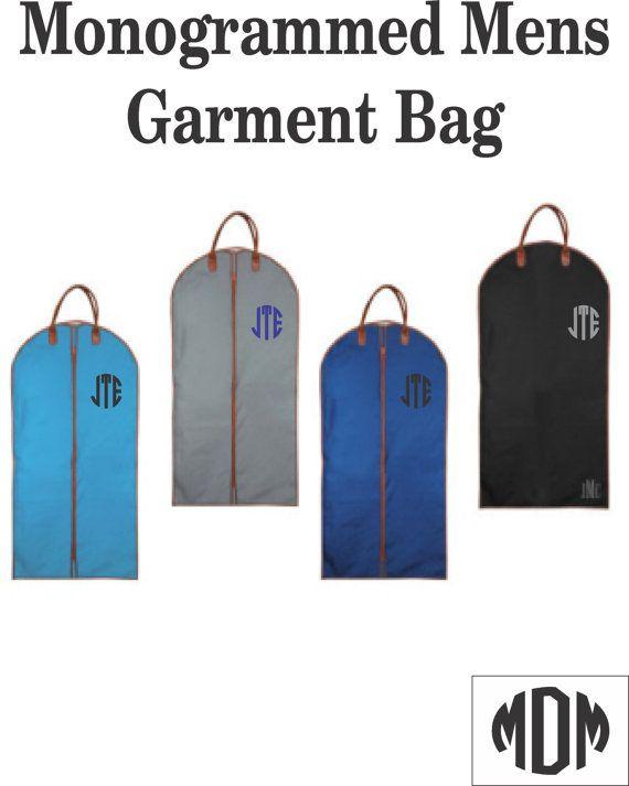 Monogrammed Mens Garment Bag / Mens Suit Bag / by MarshmallowDream
