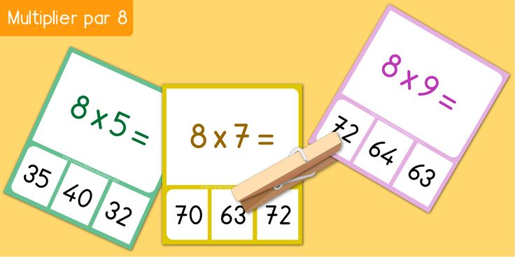 17 best images about multiplication apprendre les tables for Table de multiplication par 7
