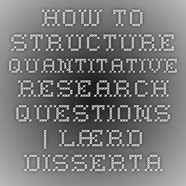Formulating research questions for your dissertation