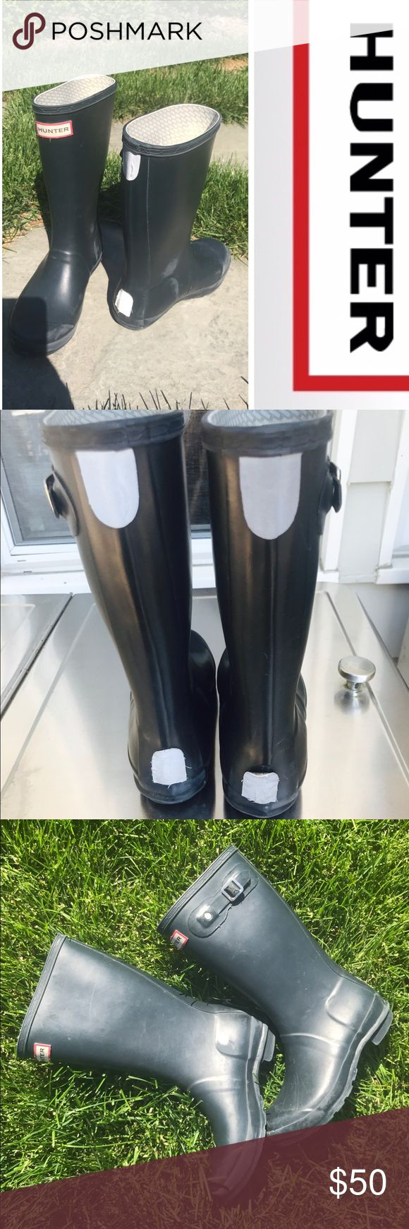 Kids Hunter Rain Boots Kids Hunter Rain Boots 4g 5b shows signs of normal wear scuffs and buckle. Price reflects. Great boots Hunter Shoes Rain & Snow Boots