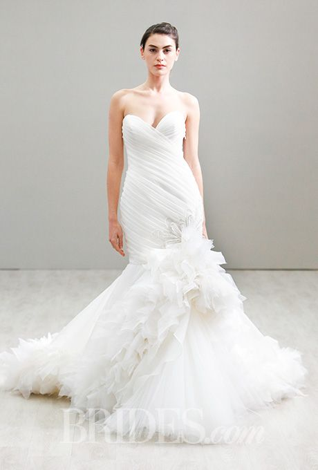 90 best Lazaro images on Pinterest | Short wedding gowns, Wedding ...