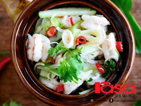 Kerabu Udang Dengan Epal Hijau, Ringkas & Sihat - Resipi - Makanan Laut - Resipi - Rasa