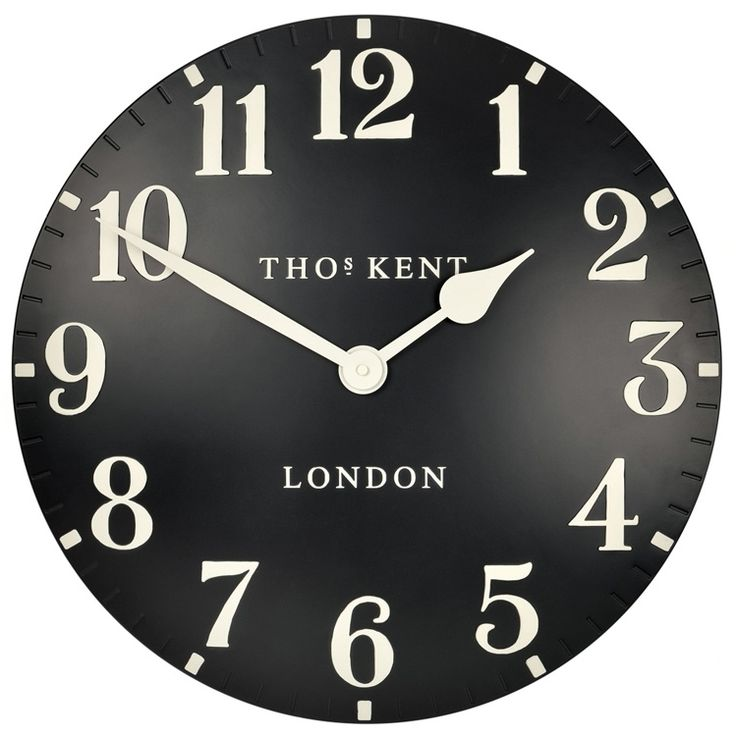 new for 2014 thomas kent arabic black wall clock 20 50cm from clocks ltd - Modern Designer Wall Clocks