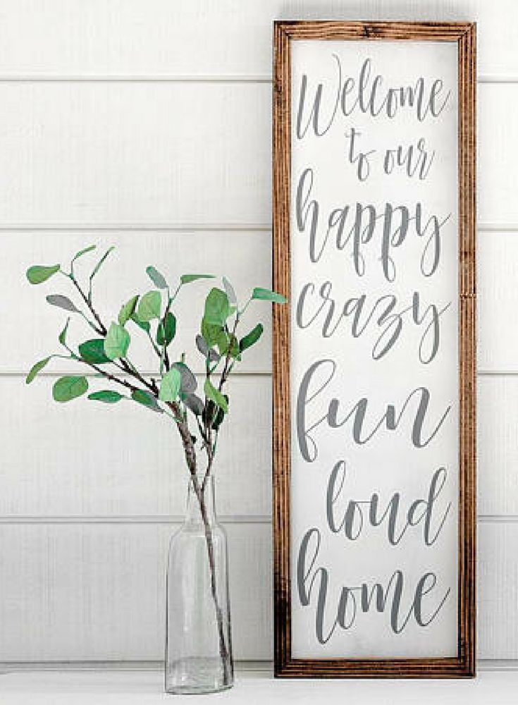 Need this sign for my house! Crazy and loud ALL the time!! Welcome to our happy crazy fun loud home,| Farmhouse Wood Sign | Shabby Chic Decor | Farmhouse decor | Rustic decor | Home decor | Farmhouse wall art #ad