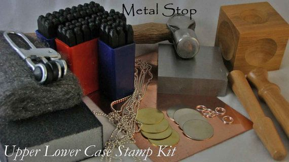 GRAND STAMP KIT Includes Upper and Lower Case Letters by metalstop, $94.95