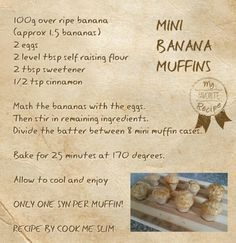 Mini banana muffins Slimming World 1 syn each
