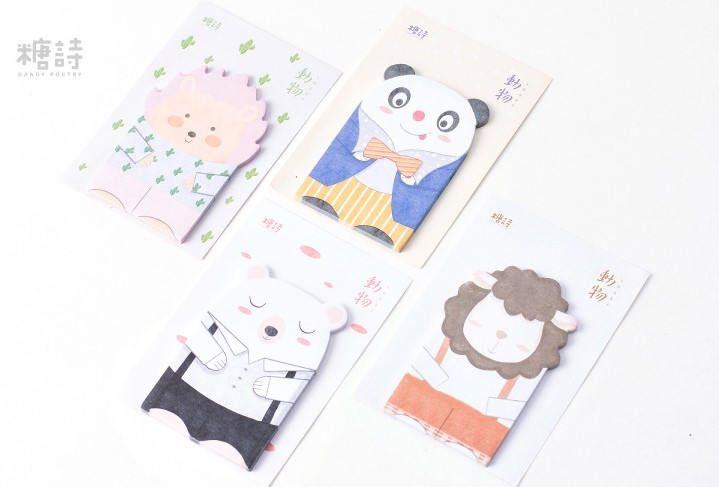 Kawaii Animals Notepads, Memo Pads, Reminder Notes, Memo Pad Stickers by GinkoSupplies on Etsy