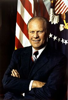 Gerald R. Ford, 1913 - 2006, 38th President of the U.S.,  born Leslie Lynch King, Jr. in Omaha