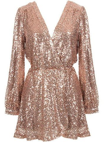 Reign or Shine Sequin Dress - Rose Gold - $69.00 | Daily Chic Dresses | International Shipping