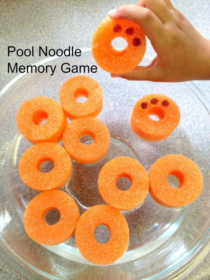 For about a buck you can create an entire pool noodle game for kids - what a bargain! Whether you're a teacher or making carnival games this is CHEAP fun.