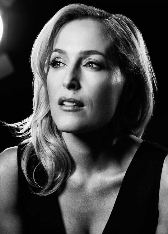 Gillian Anderson photographed by Mark Mann.