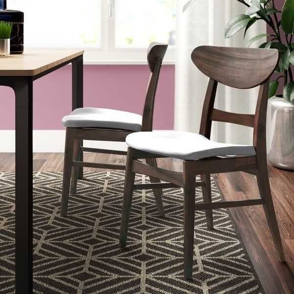 This Solid Wood Dining Chair Is A Great Addition To Any Home The Mid Century Modern Design Is E Solid Wood Dining Chairs Dining Chairs Dining Chair Upholstery