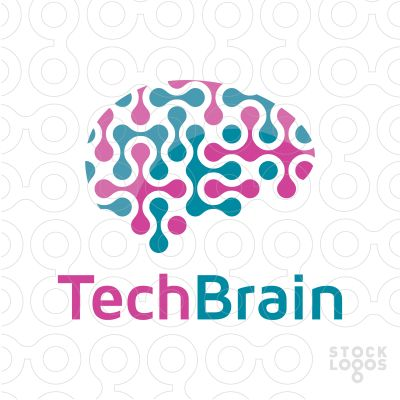 Exclusive Customizable Logo For Sale: Tech Brain Web Technology | StockLogos.com