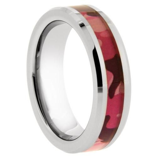 Tungsten Pink Camouflage Ring