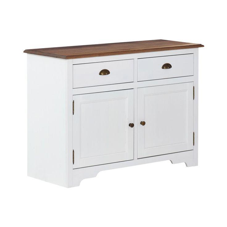 Anrichte paris kiefer weiß lackiert anrichten sideboards wohnmöbel möbel