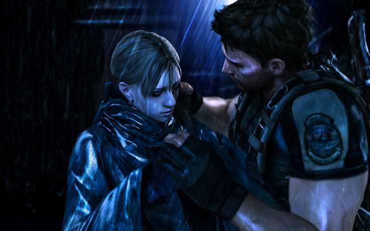 jill valentine chris redfield kiss