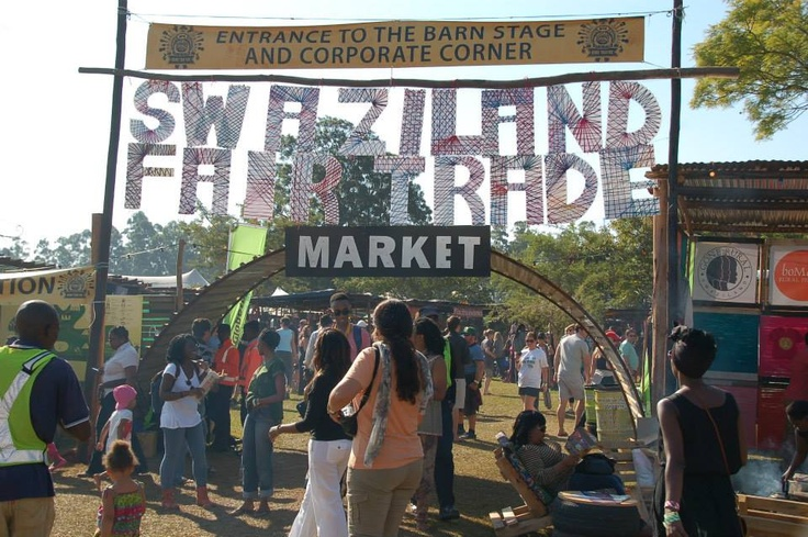 The entrance to Swaziland Fair Trade market place 2013