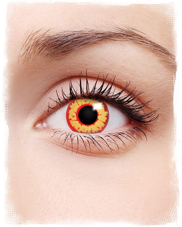 Kontaktlinsen Ring of Fire | #Kontaktlinsen #contacts #farbigeKontaktlinsen #coloredcontacts #halloweenmakeup