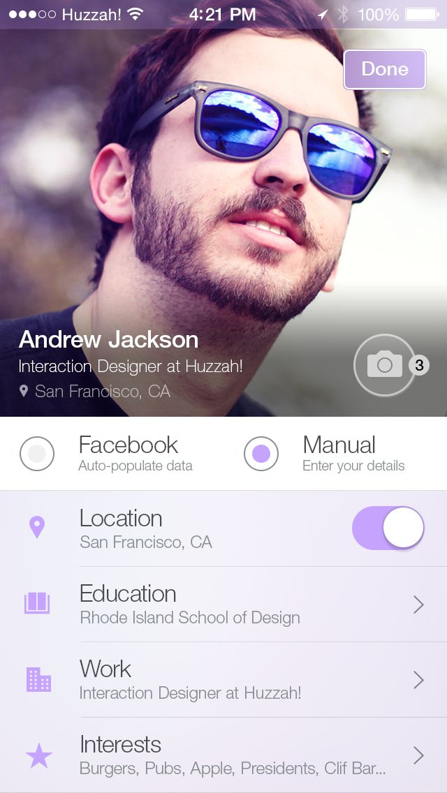 I like this idea for profile. Creative way to display things