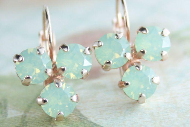 Endora Jewellery @ Etsy, Mint Opal Earring ($34.16)