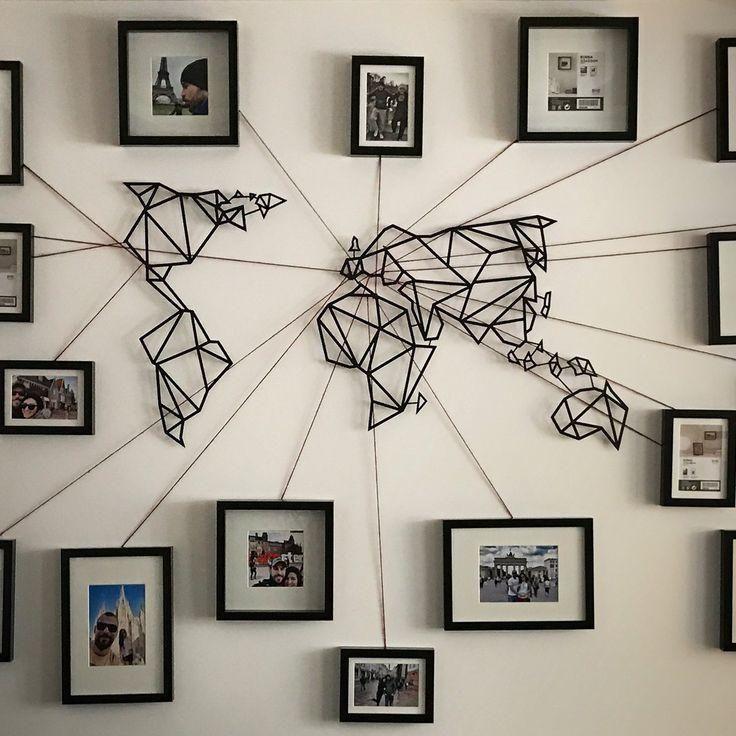 Besten Ideen Weltkarte Wand Kunstwerk