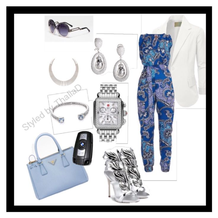 AFRICAN PRINT JUMPSUIT Car keys @bmw White blazer @doubliju.com Shoes @giuseppezanottiworld Lady bug earrings @luxurybazaar.com Shades @cocoandbreezy Bag @prada Deco diamond Watch @michele  Necklace @omiru.com Bangle @25karats #ootd #outfitoftheday #lookoftheday #Styledbythalia #fashion #fashiongram #style #love #beautiful #currentlywearing #lookbook #wiwt #whatiwore #whatiworetoday #ootdshare #outfit #clothes #wiw #mylook #fashionista #todayimwearing #instastyle #Hmusa #instafashion…