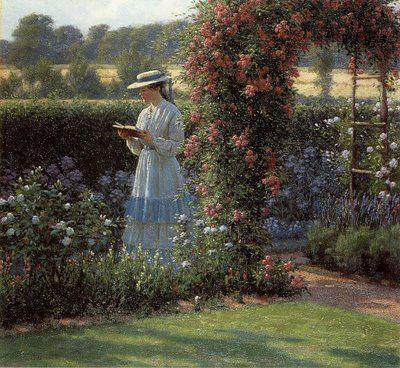 """Sweet Solitude"" by Edmund Blair Leighton"