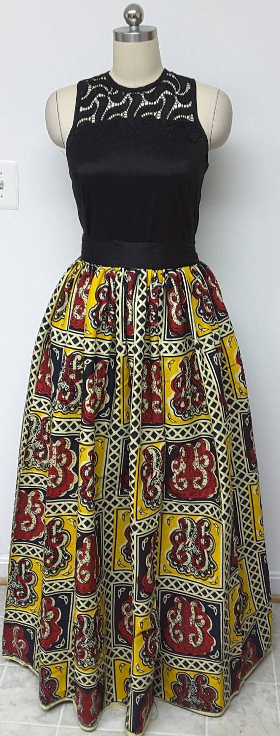 High-Waisted Fully lined Maxi or Midi Skirt with Inside. Ankara, Dutch wax, Kente, Kitenge, Dashiki, African print bomber jacket, African fashion, African clothing, African prints, Nigerian style, Ghanaian fashion, Senegal fashion, Kenya fashion, Nigerian fashion (affiliate) #etsy #kitenge #ankara