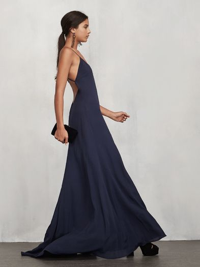 Finally a bridesmaid dress you won't have to lie about liking. The Arabeth Dress. https://www.thereformation.com/products/arabeth-dress-sapphire?utm_source=pinterest&utm_medium=organic&utm_campaign=PinterestOwnedPins