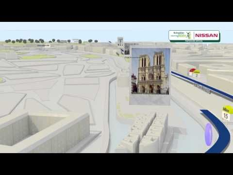 El plan para el domingo... Parcours du Schneider Electric Marathon de Paris - 3D