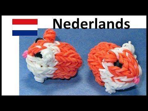 Rainbow Loom Nederlands Cavia - Eveline Maureen + DIY Mommy loom / bands - YouTube