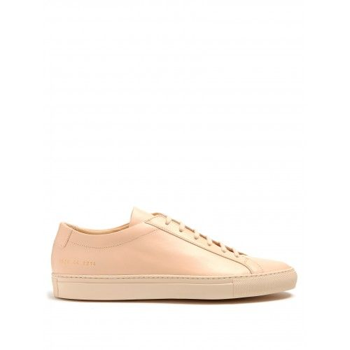 Common Projects - Goed Common Projects Original Achilles Low-Top Leather Trainers Heren Sneakers Roze