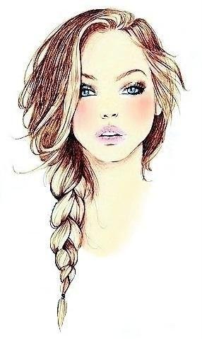 doodling hair braids - Buscar con Google