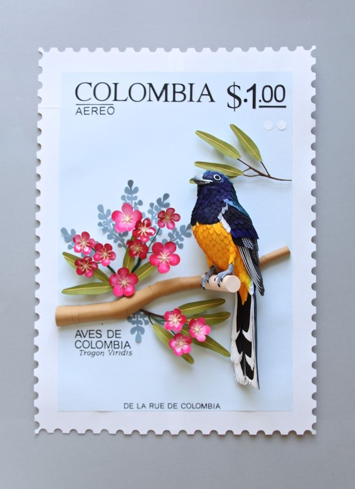 Paper Artist Creates Beautiful Bird Stamps in Large Scale 3D - My Modern Met