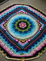 SOPHIE'S UNIVERSE PATTERN - DONE WITH THE COLORS PICKED FOR THE LILY POND CAL!!! I LOVE IT!!!